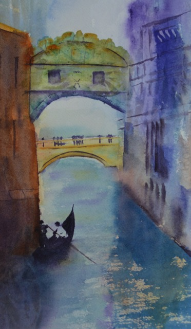 Bridge of Sighs ©Paige Mortensen Watercolour