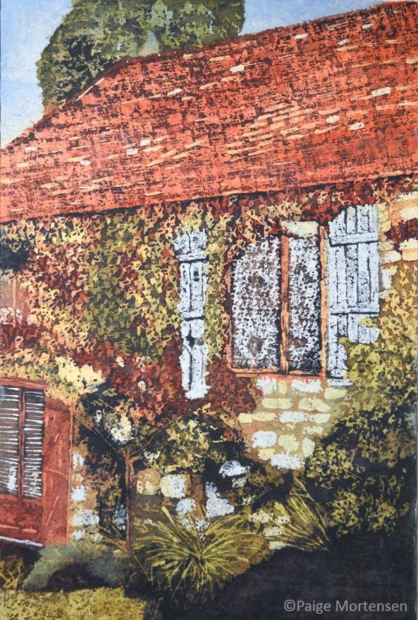 "PaigeMortensen-StoriesInsideSeriesXVII Watercolour Batik 24 x 36"" $1,100"