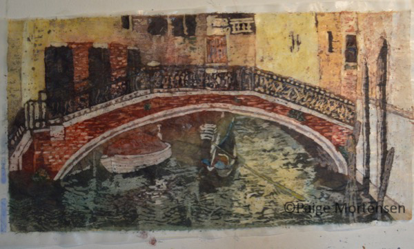 Watercolour Batik Process - Under The Bridge - Darks