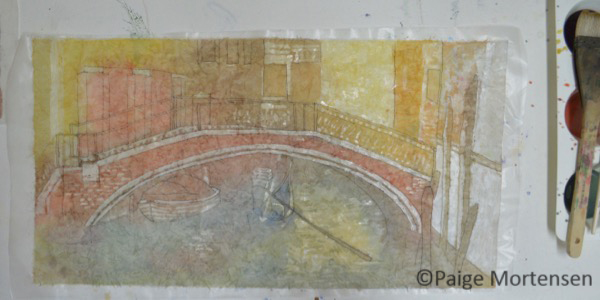 Watercolour Batik Process - Under The Bridge - Ugly Phase