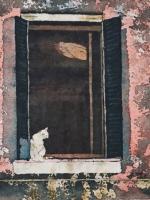 """Stories Inside IV ©Paige Mortensen Watercolour 15x15\"""" $350"""