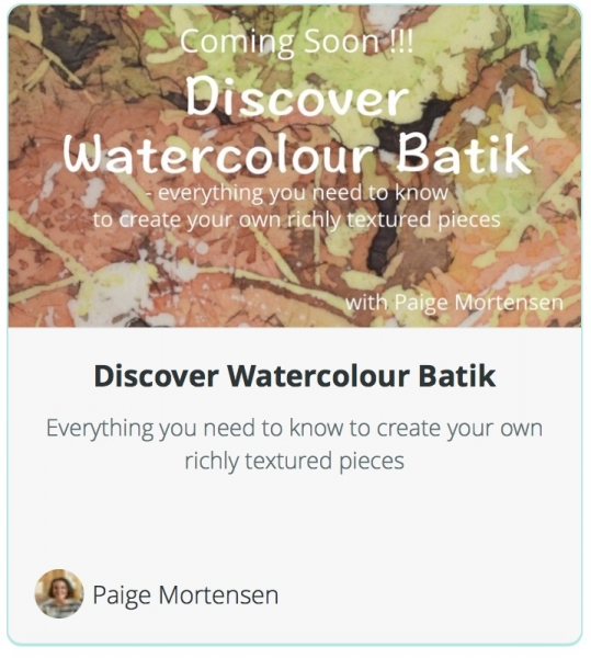 Discover Watercolour Batik
