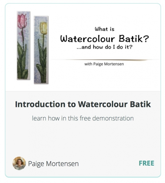 Introduction to Watercolour Batik