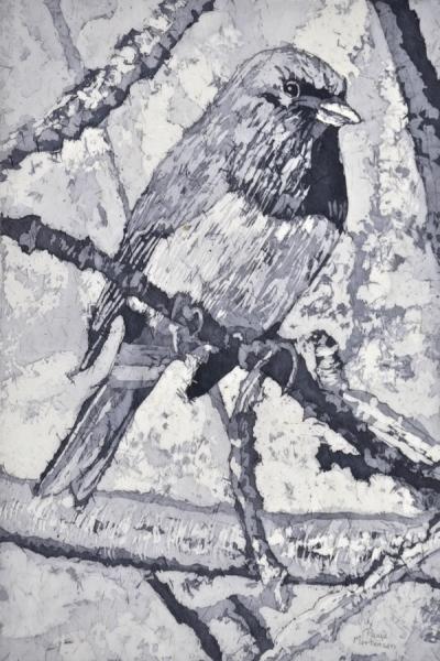 """Chilly Watercolour Batik ©Paige Mortensen 18x12"""" $375"""