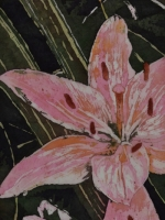 "Tall Taller Tallest ©Paige Mortensen Watercolour Batik 12x36"" $425"