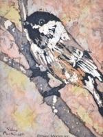 """Hiding in the Bushes 2 ©Paige Mortensen Watercolour Batik 5 x7\"""""""