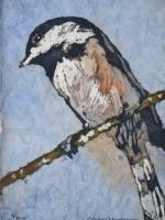 "On the High Wire 2 ©Paige Mortensen Watercolour Batik 5 x7\"" $95"