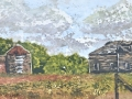 The Homestead ©Paige Mortensen Watercolour Batik 20 x 10""