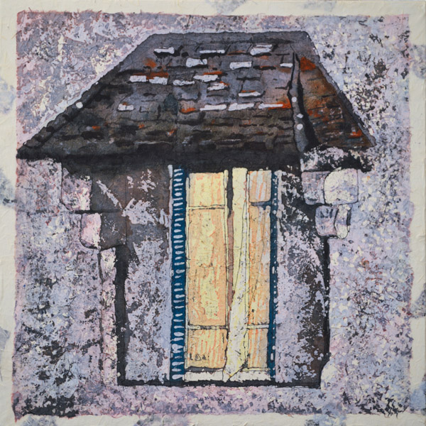 "Stories Inside I ©Paige Mortensen Watercolour 15x15\"" $300"